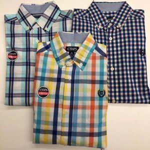 Bundle of 3 boys Chaps button-down shirts M 10/12